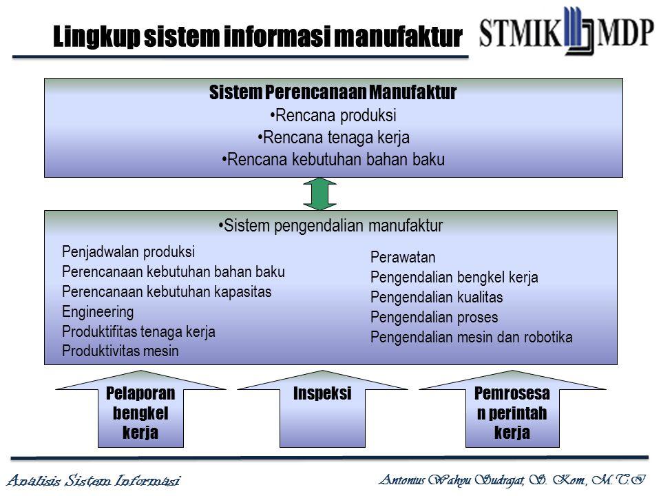 Lingkup sistem informasi manufaktur