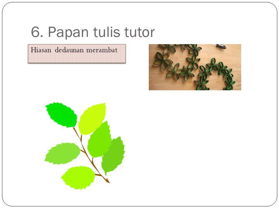 6. Papan tulis tutor Hiasan dedaunan merambat