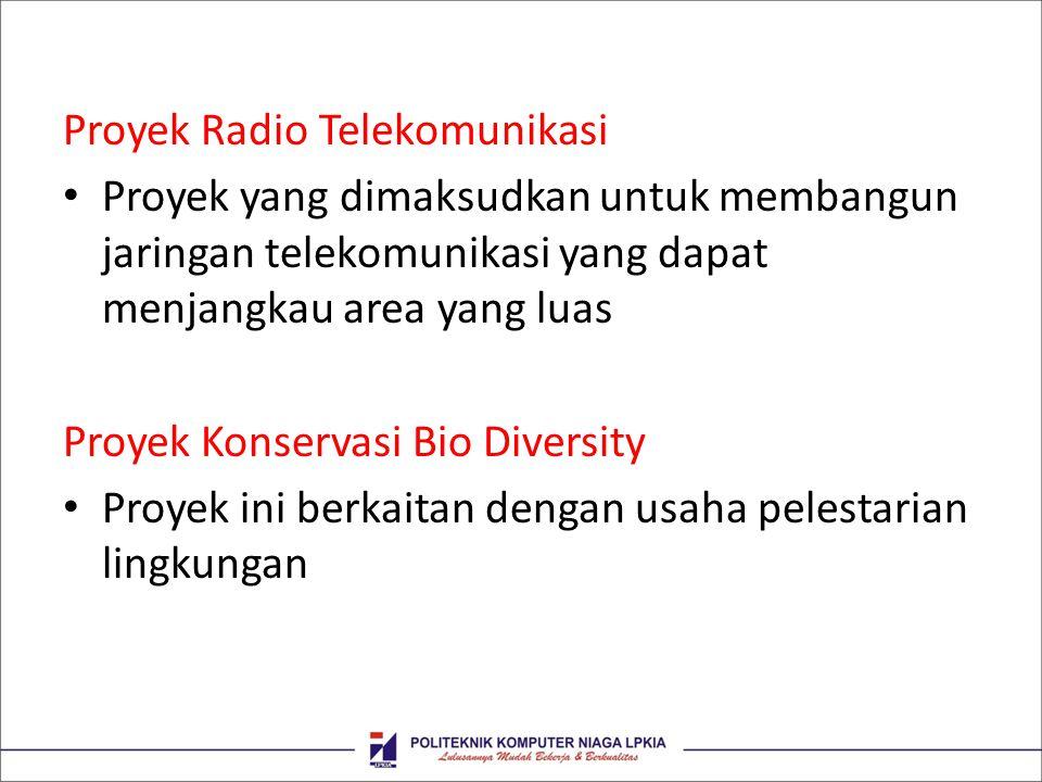 Proyek Radio Telekomunikasi