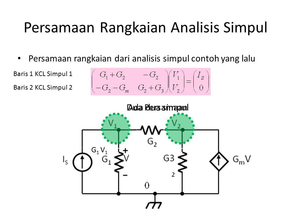 Persamaan Rangkaian Analisis Simpul