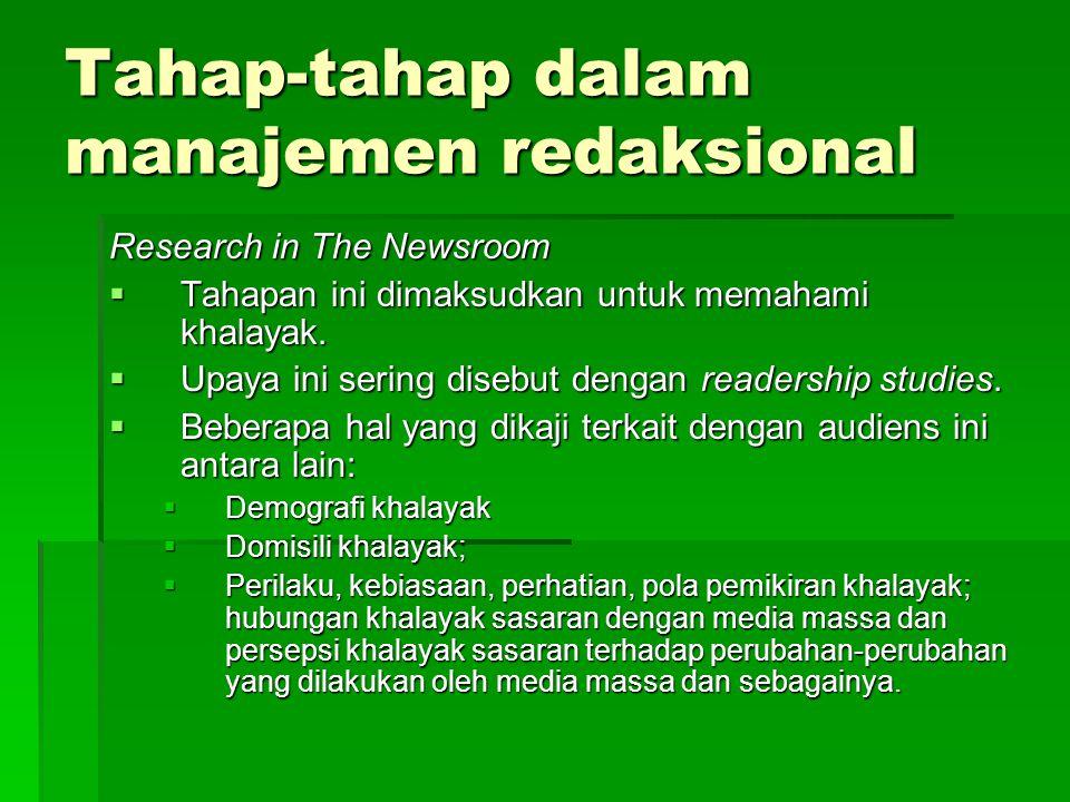 Tahap-tahap dalam manajemen redaksional