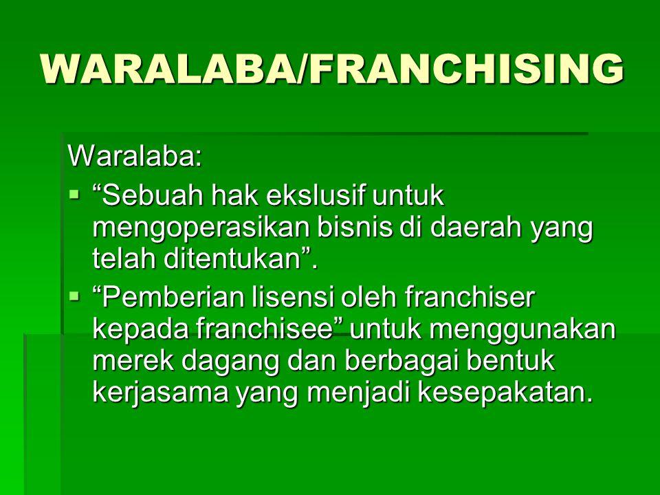 WARALABA/FRANCHISING