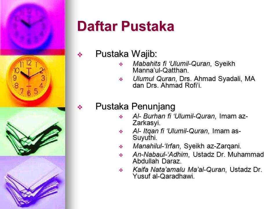 Daftar Pustaka Pustaka Wajib: Pustaka Penunjang