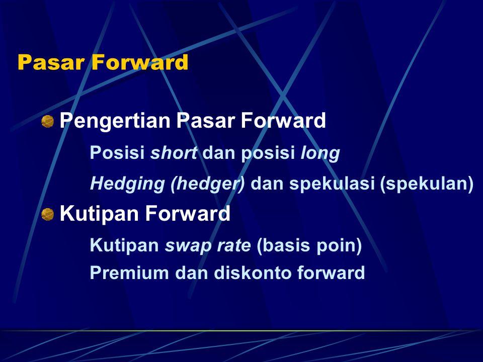 Pengertian Pasar Forward Posisi short dan posisi long