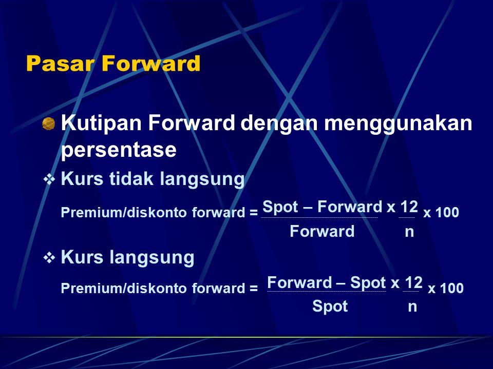 Kutipan Forward dengan menggunakan persentase