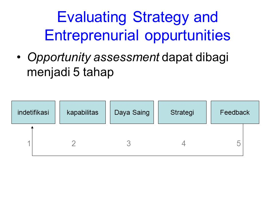 Evaluating Strategy and Entreprenurial oppurtunities