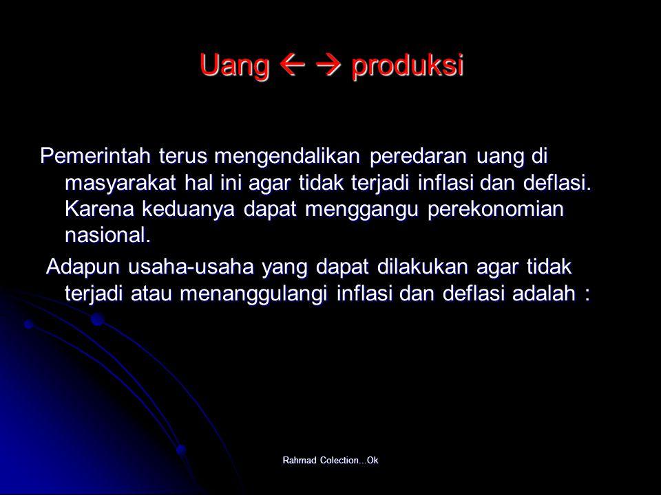 Uang   produksi