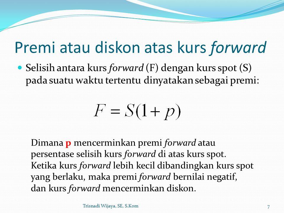 Premi atau diskon atas kurs forward