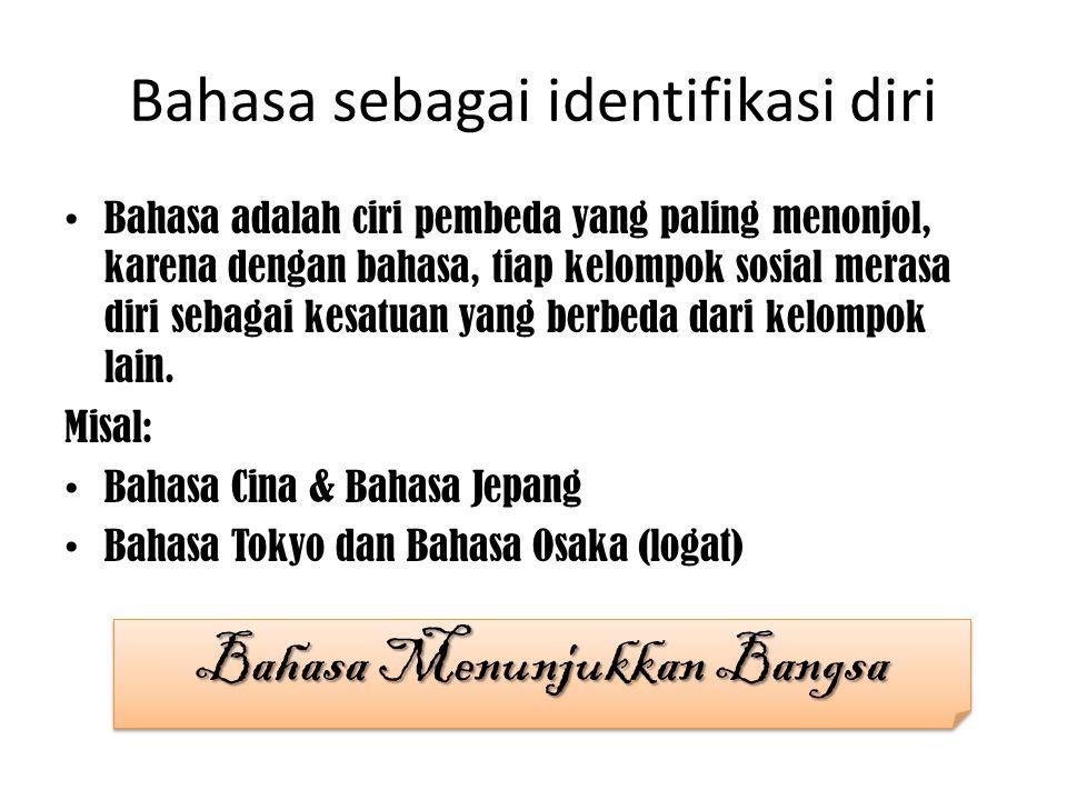 Bahasa sebagai identifikasi diri