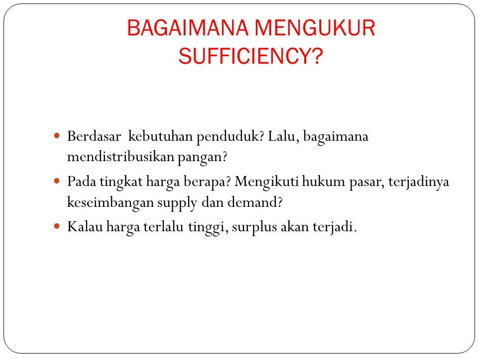 BAGAIMANA MENGUKUR SUFFICIENCY