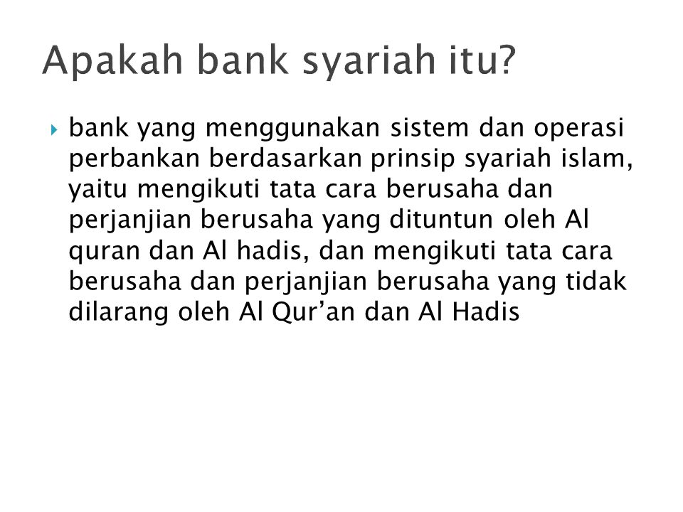 Apakah bank syariah itu