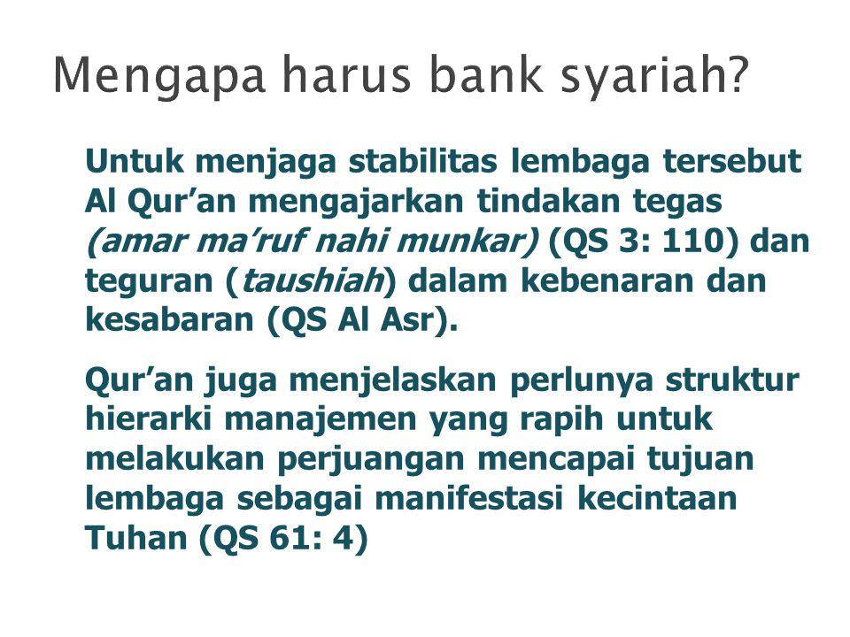 Mengapa harus bank syariah