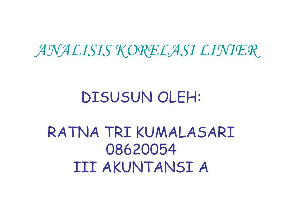 ANALISIS KORELASI LINIER