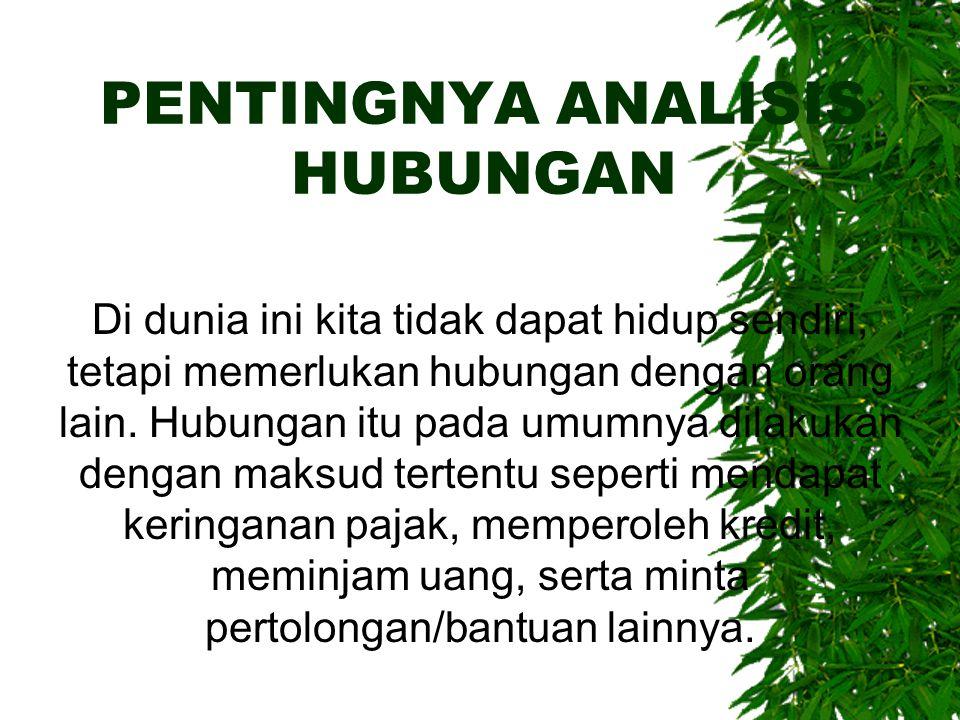 PENTINGNYA ANALISIS HUBUNGAN