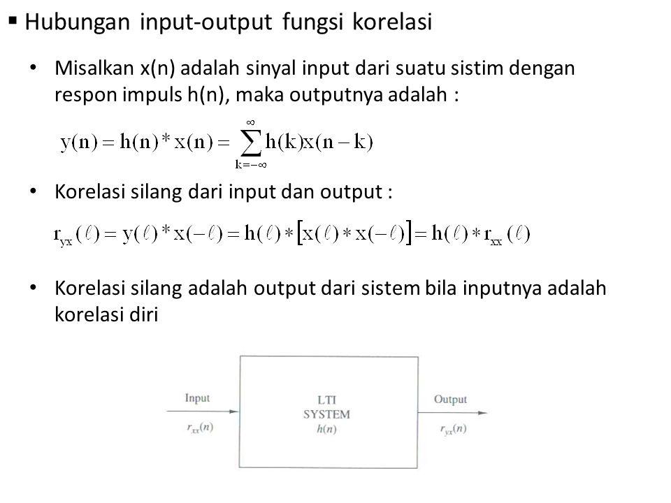 Hubungan input-output fungsi korelasi