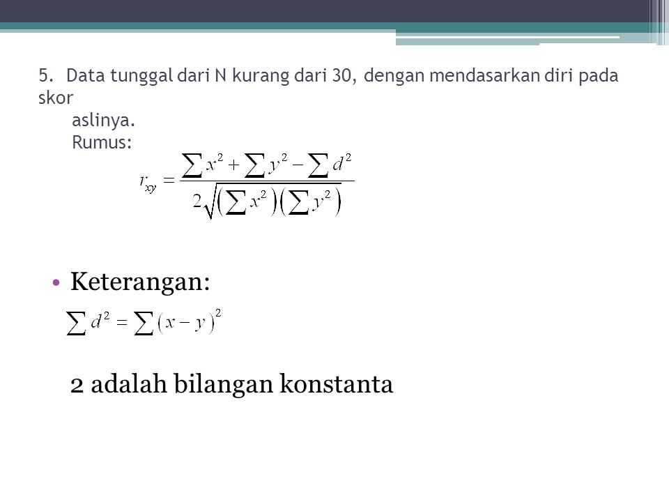 2 adalah bilangan konstanta