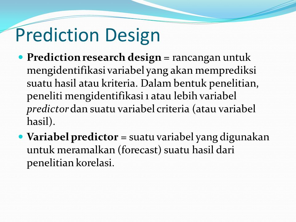 Prediction Design