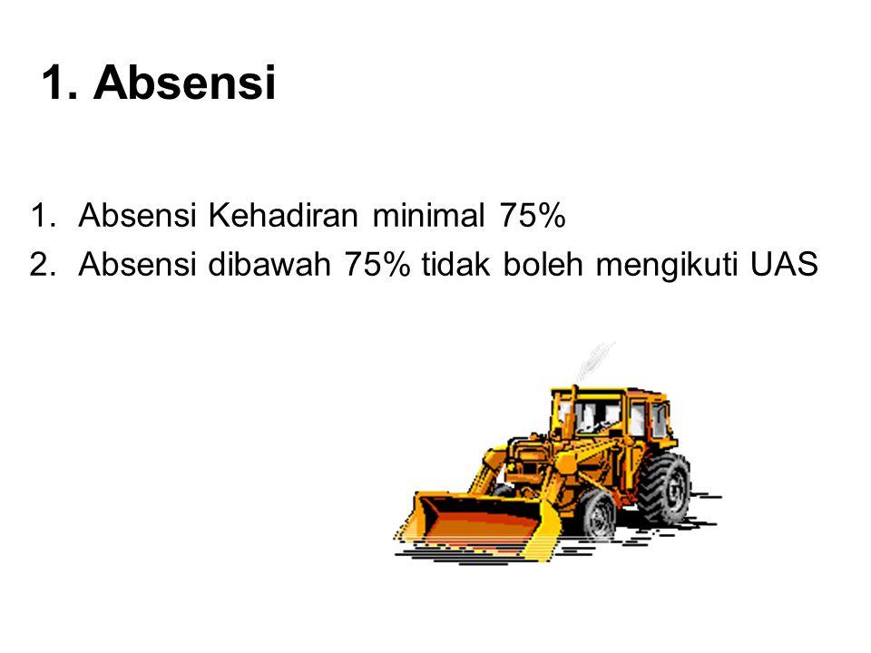 1. Absensi Absensi Kehadiran minimal 75%