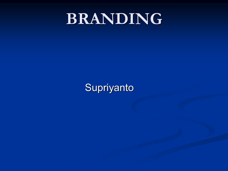 BRANDING Supriyanto