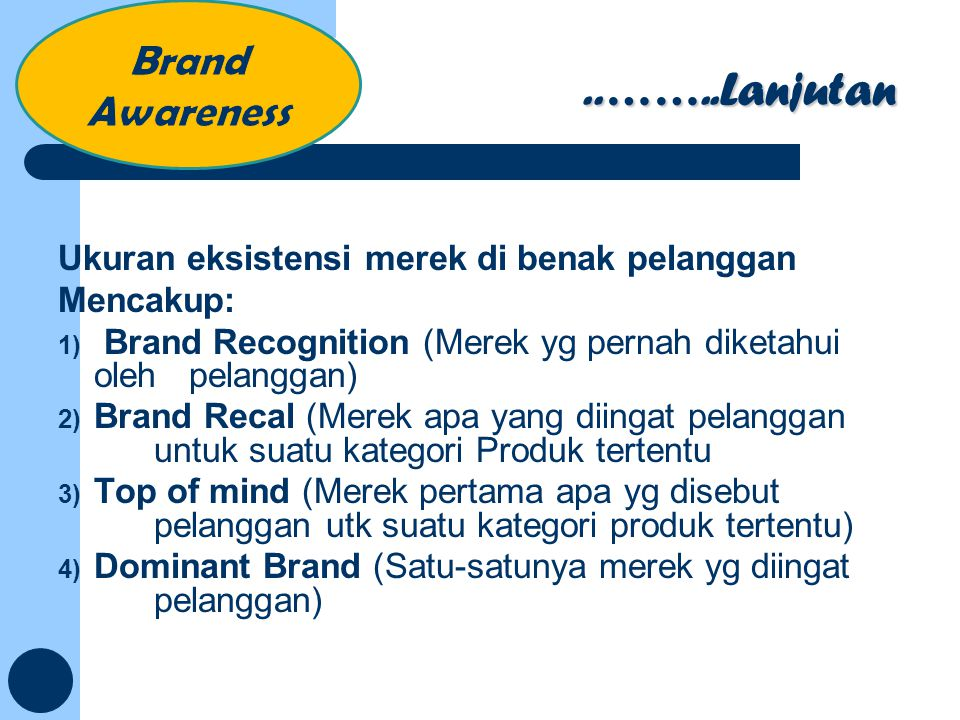 ..……..Lanjutan Brand Awareness