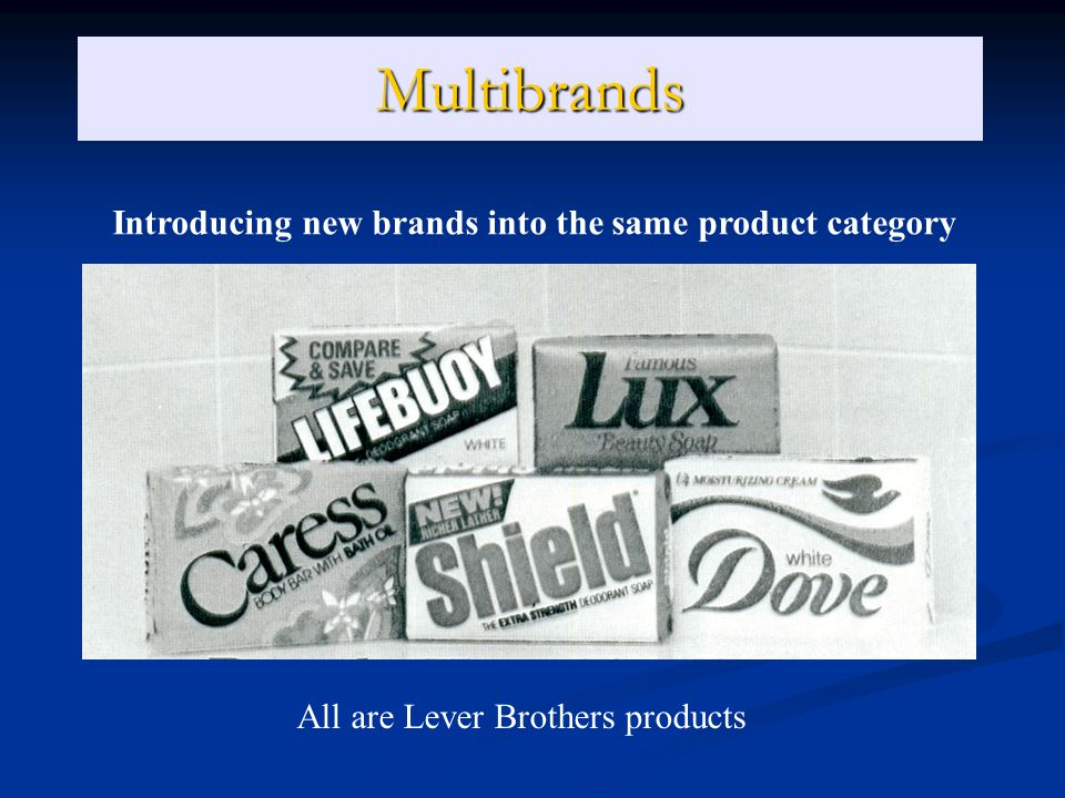 Multibrands Introducing new brands into the same product category