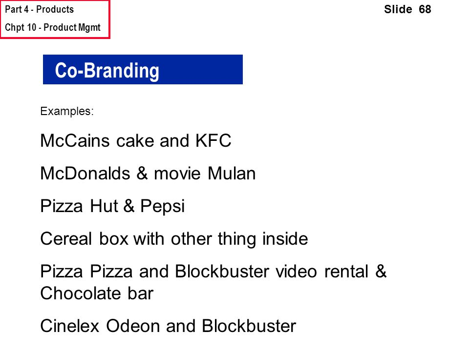 Co-Branding McCains cake and KFC McDonalds & movie Mulan