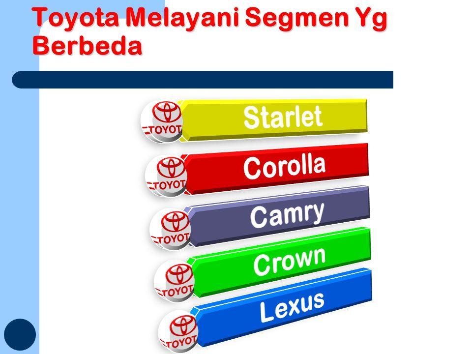 Toyota Melayani Segmen Yg Berbeda