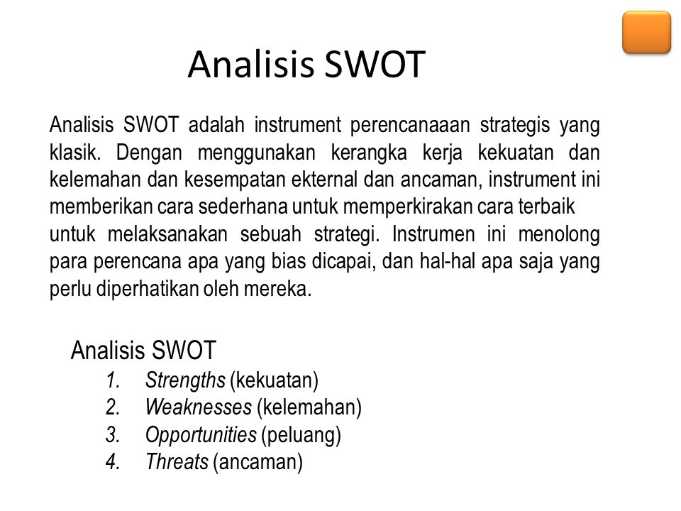 Analisis SWOT Analisis SWOT