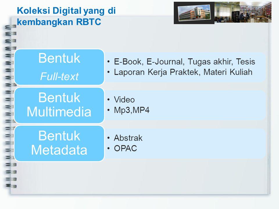 Koleksi Digital yang di kembangkan RBTC