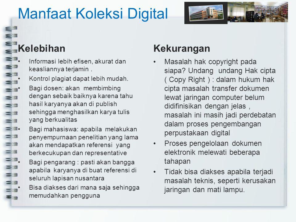 Manfaat Koleksi Digital