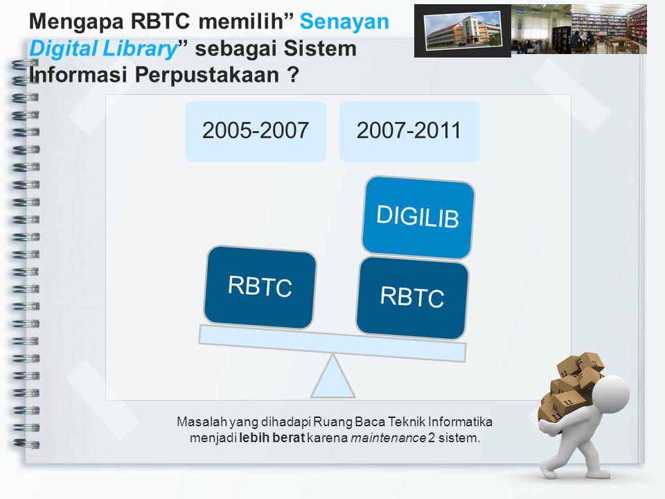 Mengapa RBTC memilih Senayan Digital Library sebagai Sistem Informasi Perpustakaan