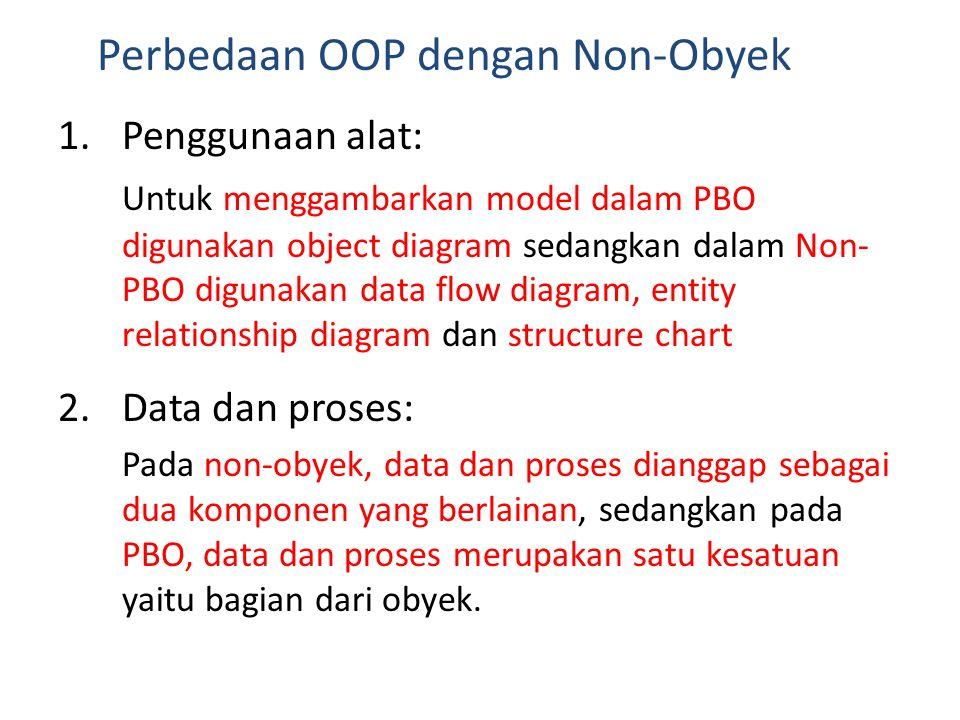 Perbedaan OOP dengan Non-Obyek