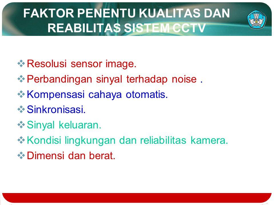 FAKTOR PENENTU KUALITAS DAN REABILITAS SISTEM CCTV