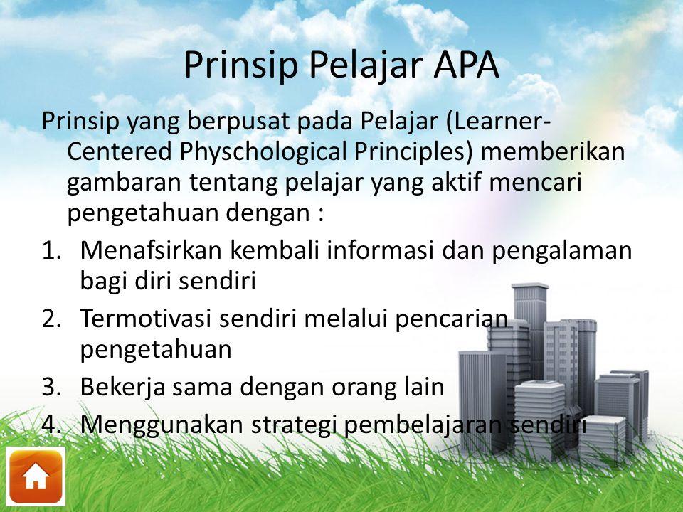 Prinsip Pelajar APA