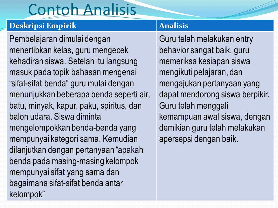 Contoh Analisis Deskripsi Empirik. Analisis.