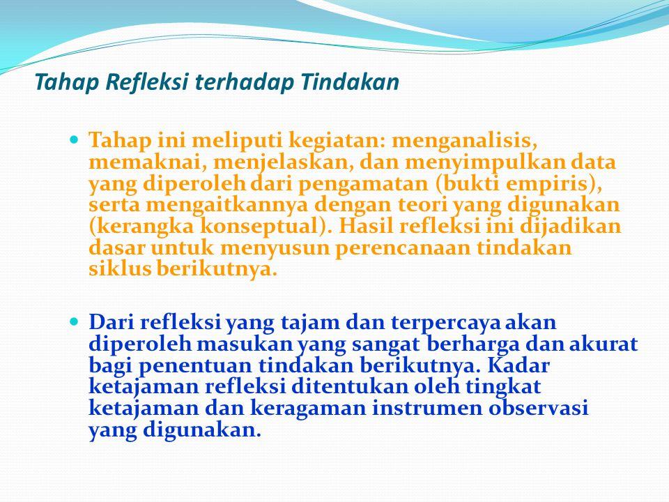 Tahap Refleksi terhadap Tindakan