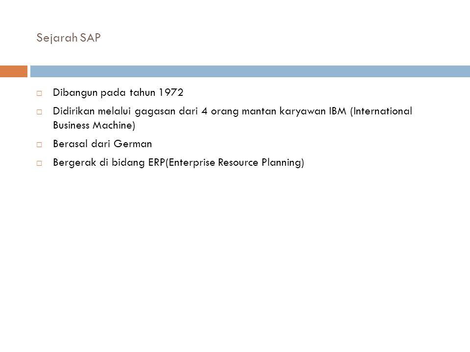 Sejarah SAP Dibangun pada tahun 1972