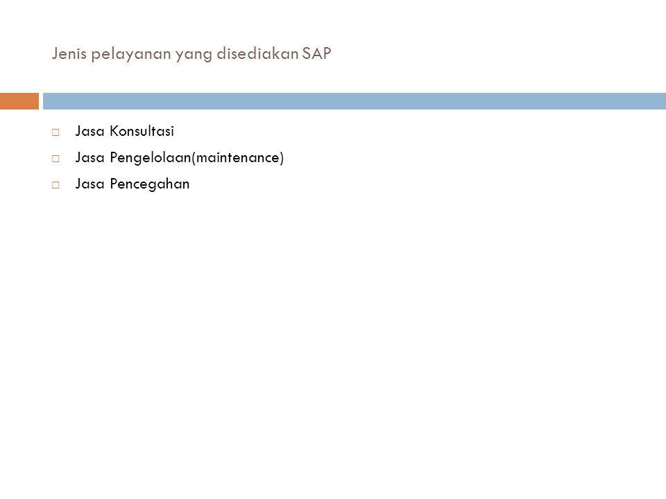 Jenis pelayanan yang disediakan SAP