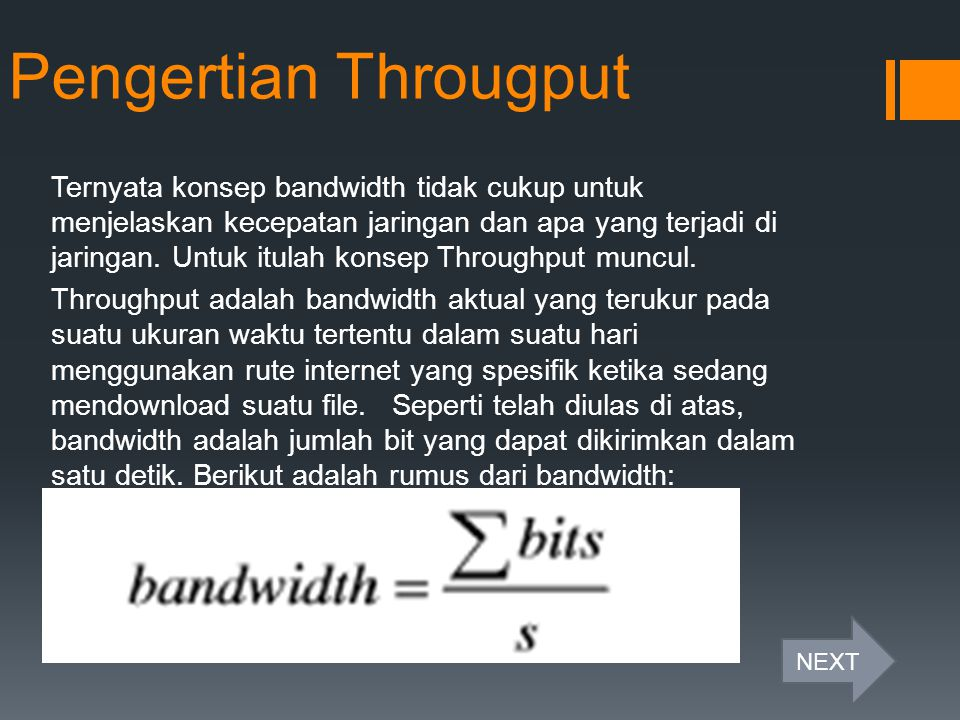 Pengertian Througput