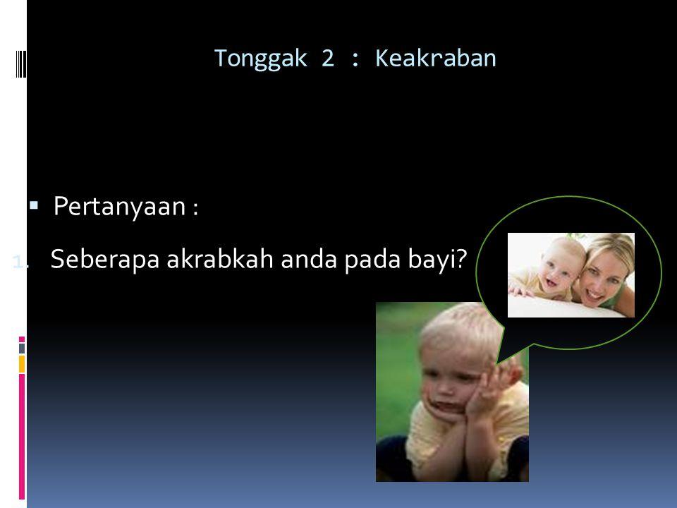 Seberapa akrabkah anda pada bayi
