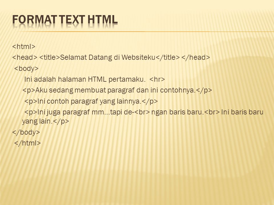 Format text HTML