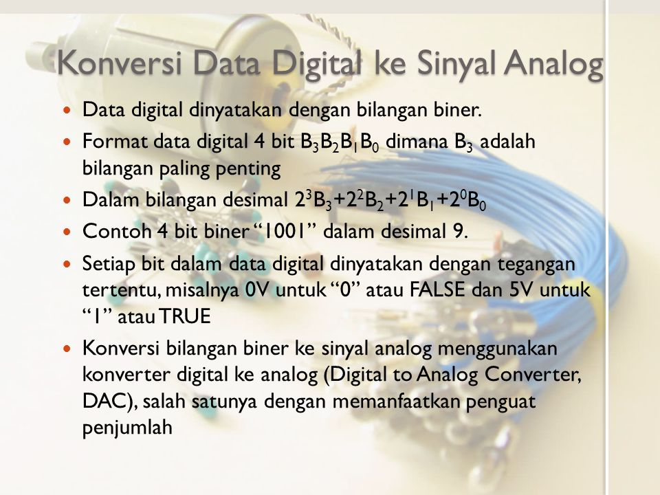 Konversi Data Digital ke Sinyal Analog