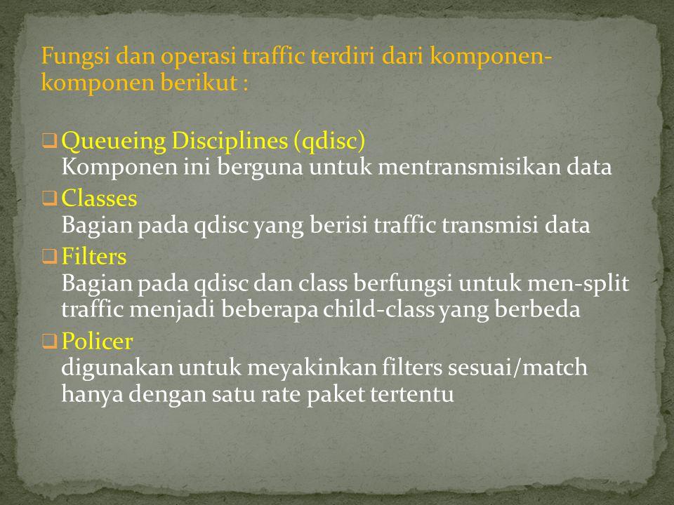 Fungsi dan operasi traffic terdiri dari komponen- komponen berikut :