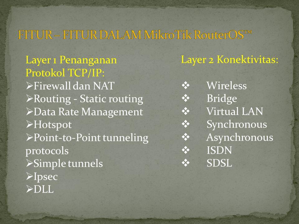 FITUR – FITUR DALAM MikroTik RouterOS™