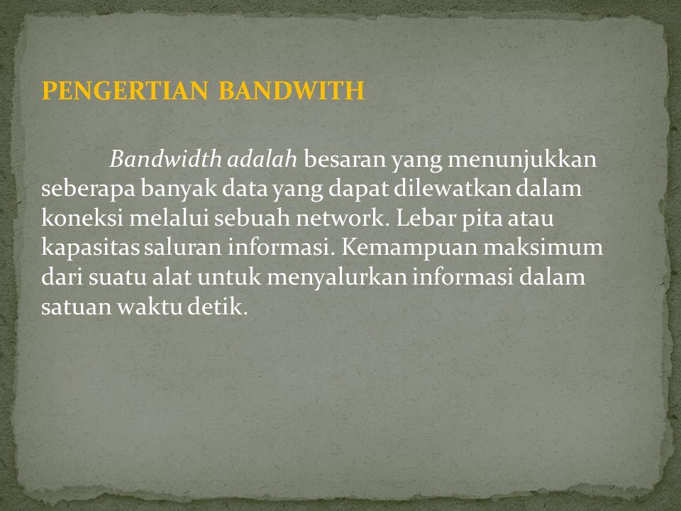 PENGERTIAN BANDWITH