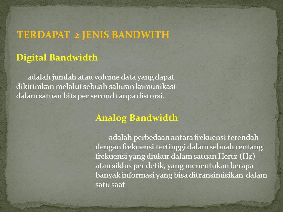 TERDAPAT 2 JENIS BANDWITH