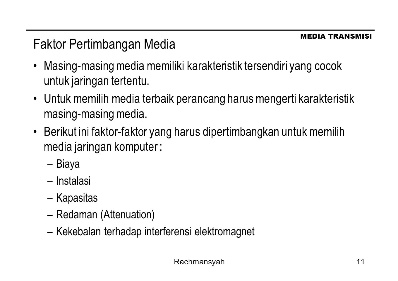 Faktor Pertimbangan Media