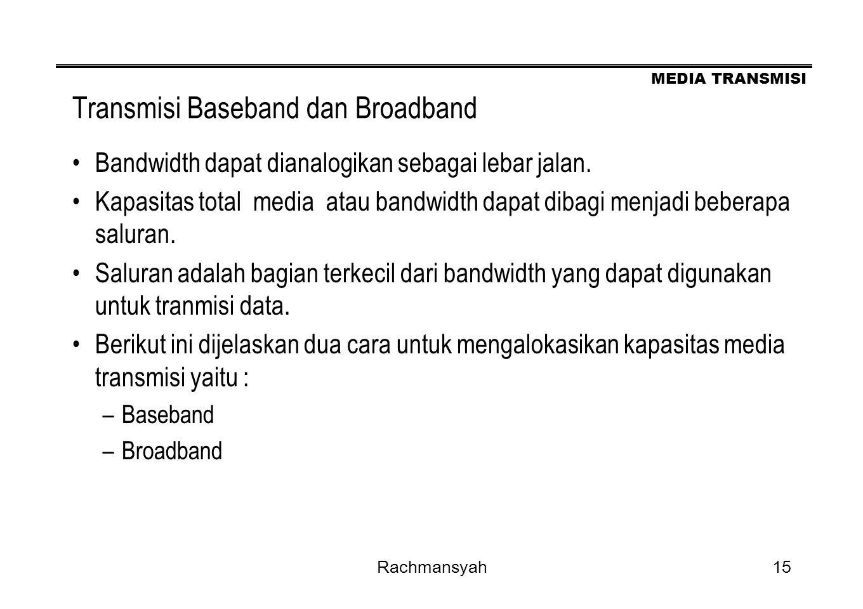 Transmisi Baseband dan Broadband