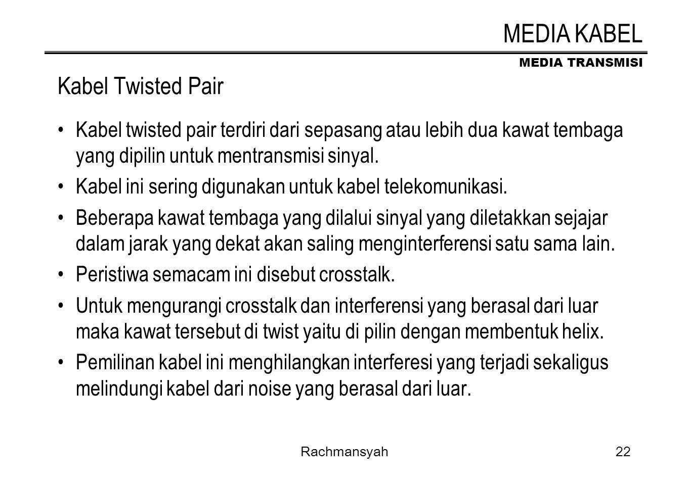 MEDIA KABEL Kabel Twisted Pair