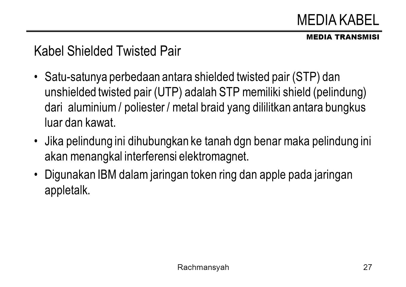Kabel Shielded Twisted Pair